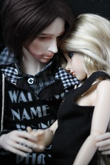 Wolfe and Storm (bjdlove101) Tags: ball asian couple doll bjd lester fairyland vito jointed souldoll minifee mirwen