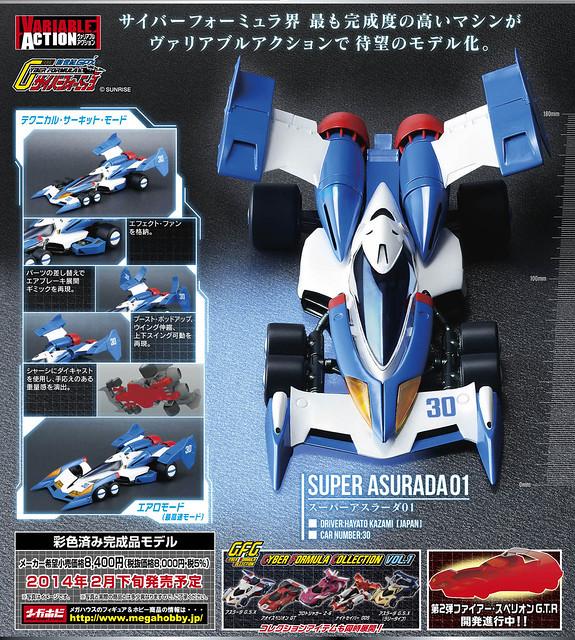 【360 度鑑賞模式】MegaHouse - 閃電霹靂車:超級阿斯拉01