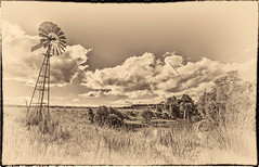 The Pumping windmill (dazza17 - DJ) Tags: clouds landscapes waterfall pano hdr lismore