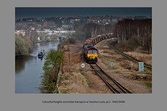 Colourful freights and other transport at Swinton Lock, pt.2 - 9482/9490 (Views in Camera) Tags: voyager dbs class66 gcr ews swinton sheffieldsouthyorkshirenavigation transpennineexpress class220 class170 volkerrail 60007 66009 66057 170303 crosscountrytrains dbschenker cadebycolliery swintonlock 6m73 1b77 northmidland 1j26 1v89 6e51 northernraildmu mexboroughshed spiritoftomkendell denabycolliery cleethorpestomanchesterairport swintoninterchange bridlingtontosheffield doncasterupdecoytomountsorrelsidings newcastletoreading thryberghjunction networkrailtampertrain scunthorpefrodinghamtochaddesdensidings masbroughfreightdepottoscunthorpetrenttc milfordwestsidingstototunsteadsidings