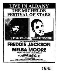 Freddie Jackson and Melba Moore 1985  albany ny  Palace theater  1980s (albany group archive) Tags: ny concert jackson moore albany freddie 1985 melba 0alace