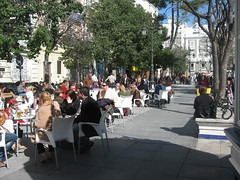 Sunday in the Square 2. (Shirley Pickthorne-Elliott) Tags: park people cafe cadiz