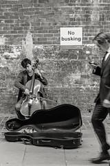 No busking (Alan Bourne) Tags: city uk greatbritain england london art europe britishisles unitedkingdom britain performingarts streetphotography streetscene tatemodern streetperformer british streetmusic streetperformance lnd performingart