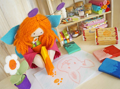 Adora  s se divertindo desenhando! :) (BoniFrati) Tags: cute easter diy craft pscoa tutorial pap fsforo gizdecera bonifrati faavocmesmo reaproveitando