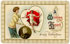 A Winning Heart to My Valentine (Alan Mays) Tags: ephemera postcards greetingcards greetings cards valentines paper printed valentinesday saintvalentinesday february14 holidays photographs photos foundphotos portraits insets inserts cutouts embellishments additions circles children boys men women clothes clothing dresses athletes runners hearts winners winning burstingthrough chains links chainlinks borders illustrations 1909 1900s antique old vintage typefaces type typography fonts wessler mwessler postcardpublishers gayman cgaymanson cgayman canalwinchester oh ohio