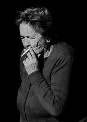 Il Fumo Invecchia la Pelle... (FraConti84) Tags: bw bnw bnwpeople bnwshot bnwmood bnwlife blackandwhite biancoenero smoking sigarette campagnano lazio italy canon oldwoman localmarket