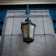 Lamp (Crawford Brian) Tags: lamp iron glass limestone rust rusty crust patina light electric urban oakpark illinois midwest usa architecture building outdoor fields 1928 register historic nationalregister nationalregisterofhistoricplaces marshallfields nrhp