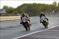 NW200 2013 (Eggy Boil) Tags: road wet evening roundabout link thursday damp superstock 2013 nw200 ballysally