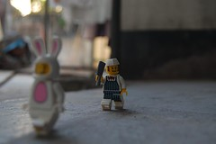 (Cobra Photographer) Tags: bunny toys lego butcher minifigures cobraphotographer