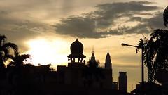 Maghrib di Kuala Lumpur (aluzee) Tags: silhouette malaysia kuala masjid lumpur maghrib kampungpandan uploaded:by=flickrmobile flickriosapp:filter=nofilter