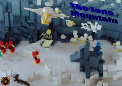 The Lone Mountain (gid617) Tags: wood blue red food white snow cold green ice home birds yellow rock work dark back lego postcard feel beak front collab inside overview kaliphlin