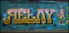 Relay (lewis wilson) Tags: city urban london graffiti paint urbanart graff relay bombing ukgraff ldngraffiti