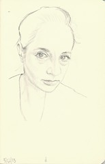 debra 5-12-13 (Stephen Ford art) Tags: portrait pencildrawing