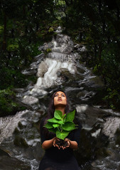 Protect Life (reylia-slaby) Tags: life trees mountain plant green love water beautiful beauty waterfall gorgeous meaning protect sincere slaby reylia