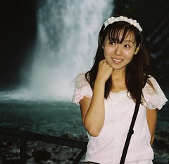 With Every Waterfall (emotiroi auranaut) Tags: woman nature girl beautiful beauty japan lady asian japanese waterfall necklace pretty poetry dress gorgeous charm sound attractive lovely charming