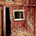 Door, historic barn on Open Space