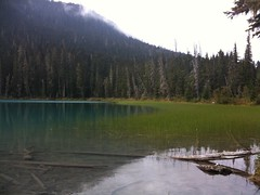 Lower Joffre Lake (JEGowrie) Tags: blue trees mountains water pond clear joffrelake rockflour