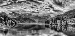 The Lake (Goethe58) Tags: blackandwhite bw river noiretblanc acqua hdr biancoenero noireblanc bwhdr flickraward hdrpanoramas hdraddicted altrafotografia stitchedpanoramua