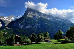 The First Corner We Meet The Ice Cap of the Alps (jerryjcwu) Tags: travel summer snow mountains nature landscape switzerland countryside scenery europe grindelwald nikkor d600 nikonafsnikkor1835mmf3545ged