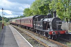 47584 2J55 (DM47744) Tags: railroad black heritage station train tracks engine rail railway loco trains steam lancashire east locomotive preserved elr 3f ramsbottom lnwr jinty 47584
