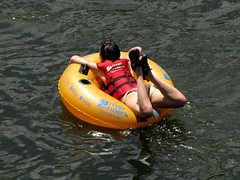 Tubing participant (SchuminWeb) Tags: life woman west water harpers ferry swim river virginia women suits ben web tube tubes july suit wv jacket bikini westvirginia rivers potomac shenandoah swimsuit tubing swimsuits bikinis 2013 swumwear schumin schuminweb