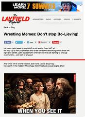 The Layfield Report posts a Heelbook meme
