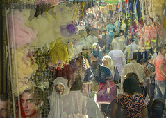 achieved by accident (David Mor) Tags: market accident jerusalem muslimquarter doublevision gerusalemme jrusalem blurriness     experimention
