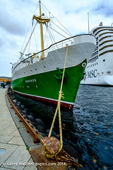 Historic ship 'Sandnes' (gwpics) Tags: old sea green heritage history water norway harbor boat stavanger dock marine ship harbour transport craft vessel rope quay historic norwegian scandinavia shipping scandinavian berth berthed