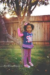 (Krista Cordova Photography) Tags: tree fall girl children littlegirl sunburst cutekids hispanicchildren africanamericanchildren