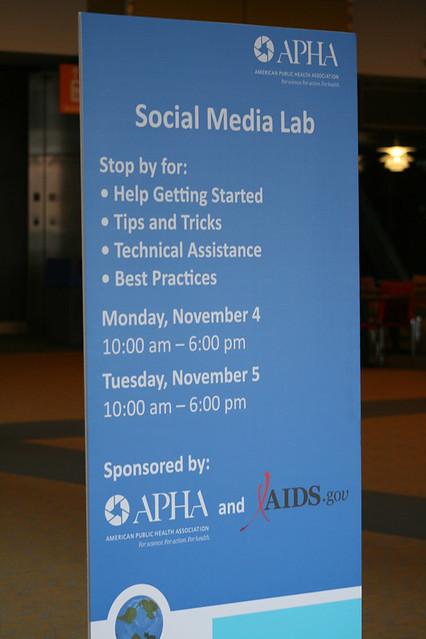 Social Media Lab sign
