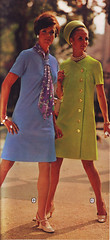 Wards 70 ss periwinkle (jsbuttons) Tags: clothing buttons womens 70s catalog 1970 70 wards vintagefashion buttonfrontdress