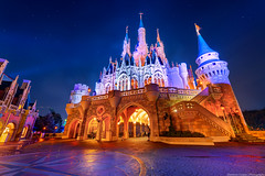 The Majesty of Cinderella Castle (TheTimeTheSpace) Tags: night stars nikon glow disney disneyworld cinderella waltdisneyworld magical hdr magickingdom fantasyland d800 cinderellacastle
