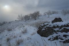 (Kirill & K) Tags: trees winter sun mist snow nature rock landscape cloudy snowclouds         bashkiria  southural     murakaevo