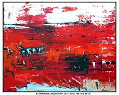 STÜRMISCHE LANDSCHAFT (CHRISTIAN DAMERIUS - KUNSTGALERIE HAMBURG) Tags: orange berlin rot silhouette modern strand deutschland see licht stillleben dock gesicht meer wasser fenster räume hamburg herbst felder wolken haus technik porträt container gelb stadt grün blau ufer hafen fluss landungsbrücken wald nordsee bäume ostsee schatten spiegelung schwarz elbe horizont bilder schiffe ausstellung schleswigholstein figuren frühling landschaften wellen häuser kräne rapsfelder acrylbilder hamburgermichel realistisch nordart acrylmalerei acrylgemälde auftragsmalerei bilderwerk auftragsbilder kunstausschreibungen kunstwettbewerbe galerienhamburg auftragsmalereihamburg cdamerius hamburgerkünstler malereihamburg kunstgaleriehamburg galerieninhamburg acrylbilderhamburg virtuellegaleriehamburg acrylmalereihamburg