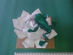 Frog Toshikazu Kawasaki and Lotus Flower Modular (ecogami br) Tags: origami arte toshikazukawasaki ecogami giulianobio arteedobraduras biologiamaisdobras artesanatoedobras ecodobras frogkawasaki oripp5