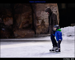 Father and Son on Ice - Zeiss AP Sonnar 135mm f/2 ZF.2 on Nikon D800E (episa) Tags: city winter toronto ontario father skating january son 2014 sonnar nikond800e zeissapo135mmf2zf2