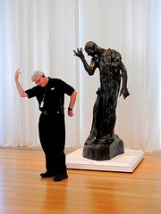 Mimicry (David Hoffman '41) Tags: sculpture bronze pose fun humor raleigh cast aer mimicry employee modeled request imitation augusterodin northcarolinamuseumofart pierredewissant vêtu
