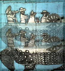 """repeat armadillo men (Jen's Photography) Tags: wall black white gray turquoise armadillo men muscians hats cartoon patternsjanuary 2014 austin texas city urban southwest south west """"central atx jens photographyaustin texascell phonecamera cell phonelg xpressionstreet photography manipulation southaustin restaurant currasgrill currasgrill614eoltorfstaustintx5124440012•currasgrillcom mexican mexianfood layer texture triptych grunge streetart streetphotography photomontage mural animal shapes circles triangles explore interestingness jensphotography bighugelabs lgc395 lgelectronics austinphotography austintexasphotography"""