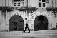 Daily Stroll (Andre Buno) Tags: street travel people bw 35mm photography nikon malaysia kuala lumpur 2013 d5100