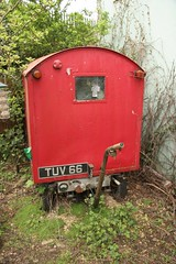 """Manulectric Postal Delivery Trailer 1954 """"TUV 66"""" (kitmasterbloke) Tags: electric vintage walking office post mail royal 66 historic delivery vehicle trailer gpo tuv manumatic"""
