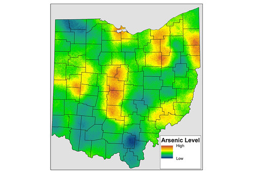 Significant baseline levels of arsenic found in soil throughout Ohio are due to natural processes