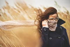 Wind (Michal Oravec) Tags: girl weather scarf wind outdoor windy manual helios