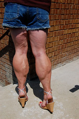 DSC_0201jj (ARDENT PHOTOGRAPHER) Tags: highheels muscular veins calves flexing veiny bodybuildingwoman