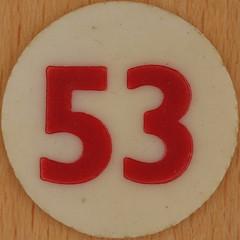 Bingo Number 53 (Leo Reynolds) Tags: xleol30x squaredcircle number numberbingo xsquarex bingo lotto loto houseyhousey housey housie housiehousie numberset 53 sqset120 50s canon eos 40d xx2015xx xxtensxx sqset