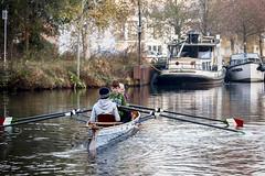Lingen -Ruderer_IMG_5328 (milanpaul) Tags: november winter germany deutschland herbst kanal emsland lingen 2014 niedersachsen wassersport alterhafen canoneos5d ruderer germanylingen