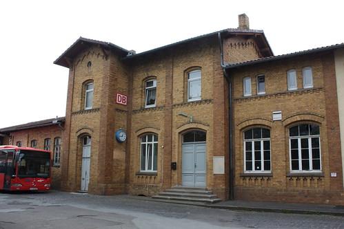 Empfangsgebäude des Bahnhofs Fritzlar