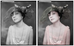 THOMAS ENEZ  MISS 2 (rob.vndnB) Tags: library congress colorize colorized colorization collection people portrait photograph photo photographs pictures looking light old border eye fashion glass image negatives negative rvndnb harrisewing