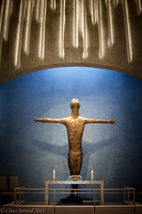 Northern Lights Cathedral / Nordlyskatedralen (Claus Jrstad) Tags: norway lights norge cathedral jesus crucifix alta northern finnmark churck crucified kors nordlyskatedralen