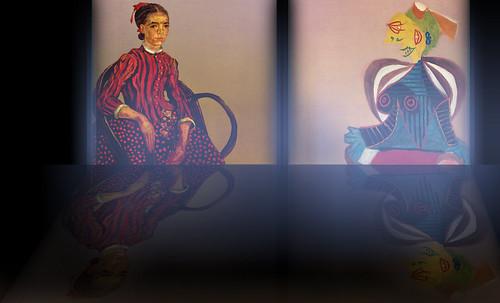 """La Mousmé, estilización de Vincent van Gogh (1888), transpolación de Pablo Picasso (1937). • <a style=""""font-size:0.8em;"""" href=""""http://www.flickr.com/photos/30735181@N00/8805037713/"""" target=""""_blank"""">View on Flickr</a>"""