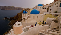 Oia famous picturesque church (Deon Lie) Tags: sunset holiday church santorini oia santorini2013